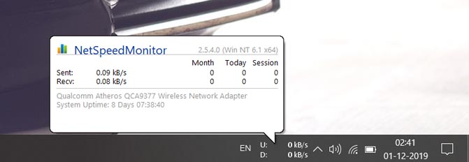 internet speed monitor
