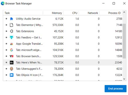 Edge browser manager