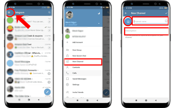 create telegram channel