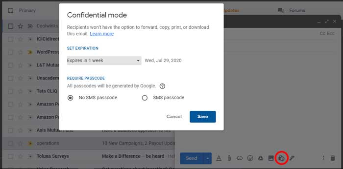 How to delete sent mail from gmail